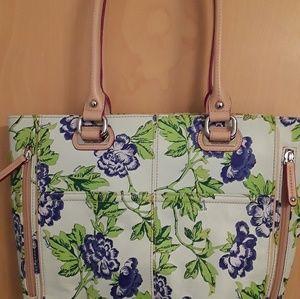 Tignanello Floral Leather Boho Purse Bag NWOT